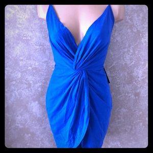 NWT Express Women's Royal Blue strap Dress